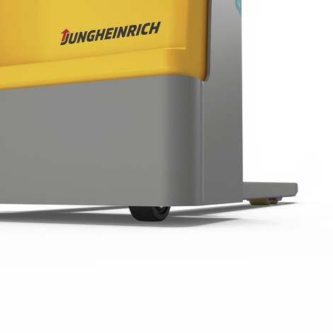 Stacker elétrico Jungheinrich EJC M10 E. Mastro simples, até 1000 Kg.