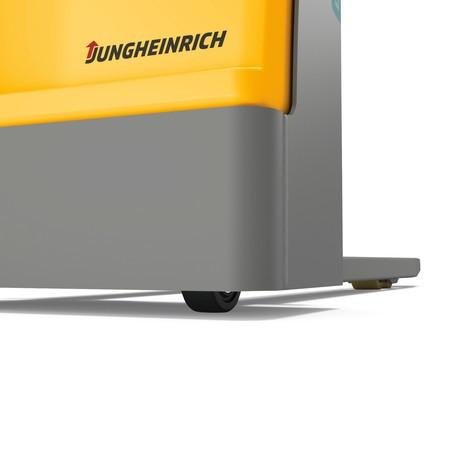 Stacker elétrico Jungheinrich EJC M10 ZT. Mastro duplo, até 1000 Kg.