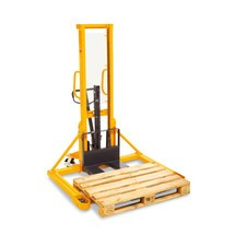Stacker hidráulico Ameise® 1600 mm, braços largos. Mastro simples, até 1000 Kg.