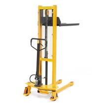 Stacker hidráulico Ameise® 1600 mm. Elevação rápida. Mastro simples, até 1000 Kg.