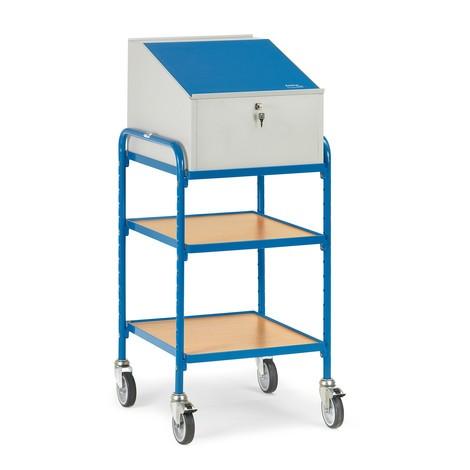 Stående skrivebord fetra® med aflåselig fastgøring
