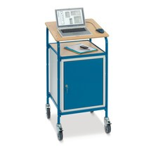 Stående skrivebord fetra® Premium med skab