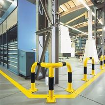 Staffa di protezione angoli impiego interno, rivestita in plastica