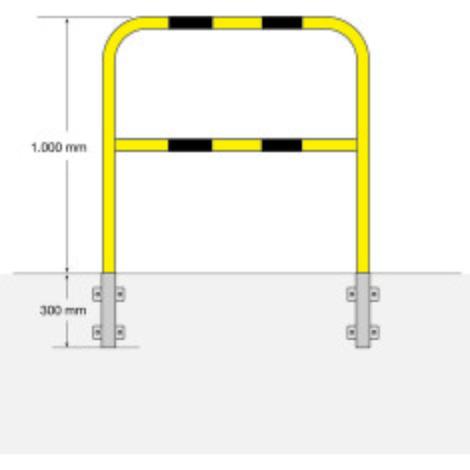 Staffa di protezione, per interni, fissaggio laterale, da estrarre
