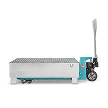 Stahl Auffangwanne, feuerverzinkt, Wahlweise für 2 Fässer oder für 4 Fässer à 200 Liter
