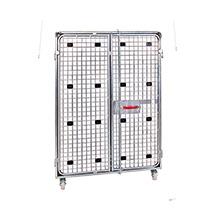 Stahl-Rollbehälter Antidiebstahl 1200 x 800 mm, blau verzinkt, Wahlweise mit oder ohne Sichtschutz