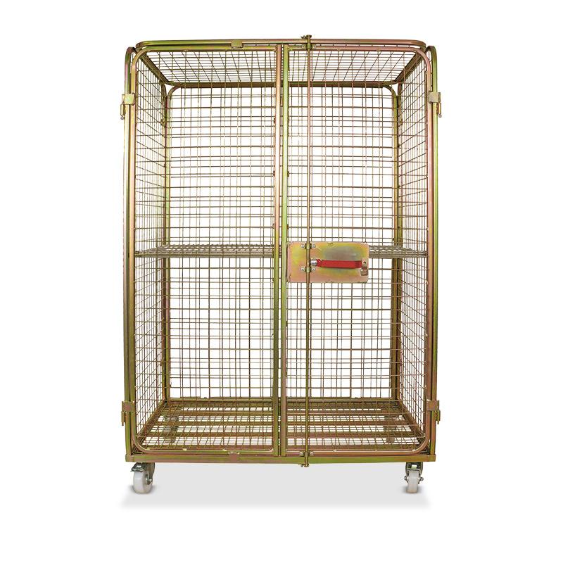 Stahl-Rollbehälter Antidiebstahl. Geschlossen und abschließbar. Tragkraft 500 kg