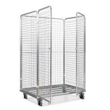 Stahl-Rollbehälter in Euro-Maß, für Kästen 600 x 400 mm geeignet