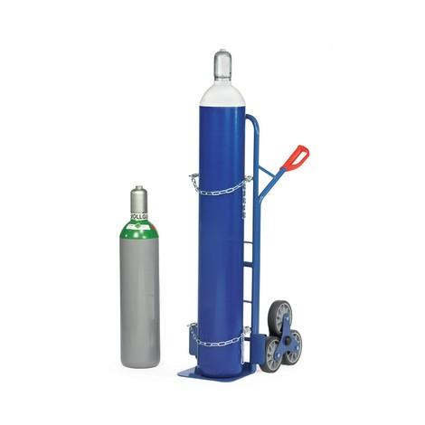 Stahlflaschen-Treppenkarre fetra®, Tragkraft 200 kg