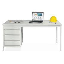 Stahlrohr-Schreibtisch inklusive Schubladenblock