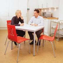 Stahlrohr-Tisch, quadratisch
