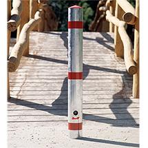 Stahlsperrpfosten Rundrohr, Ø 76 mm, rot