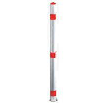 Stahlsperrpfosten Rundrohr, Ø 76 mm, rot/weiß