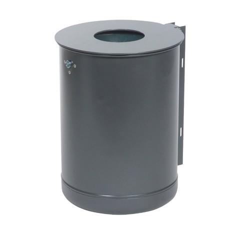 Stalen afvalbak, 50 liter, gepoedercoat