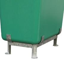 Stalen onderstel voor grote GVK-containers