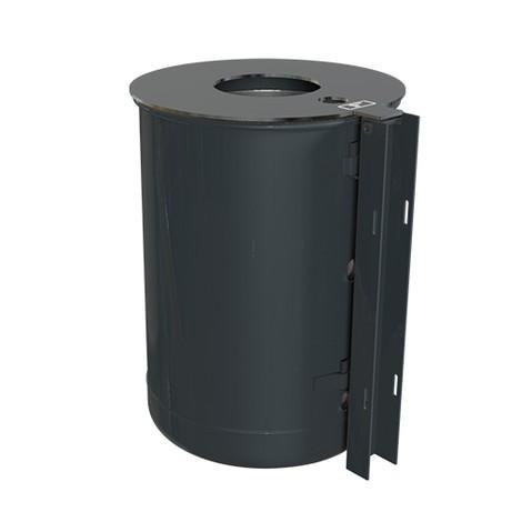 Stalowy pojemnik na odpady, 50 litrów, z popielniczką