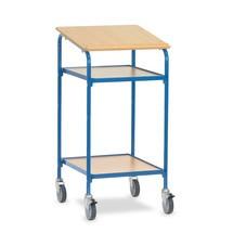 Stálý psací stůl fetra® Premium, otevřený