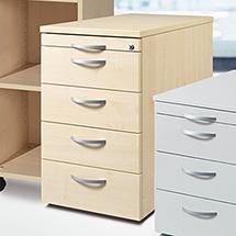 Standcontainer mit 4 Schubladen oder 2 Schubladen + 1 Hängeregistratur