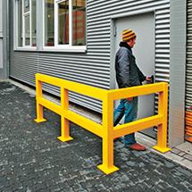 Standpfosten für Rammschutz-Geländer für Außen