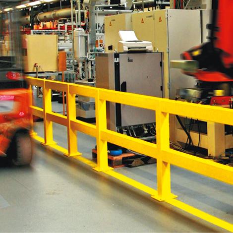 Standpfosten für Rammschutz-Geländer für Innen