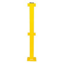Standposten S-Line swing. Außen, feuerverzinkt und gelb kunststoffbeschichtet