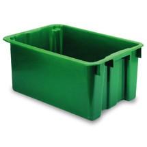 Stapel euro-magazijnboxen. Inhoud tot 65 liter