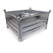 Stapelbak HESON ® met gesloten wand. Capaciteit 2000 kg