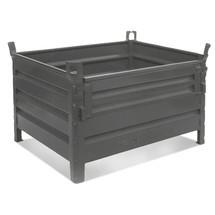 Stapelbak HESON®, ½ volwandklep, capaciteit 2.000 kg