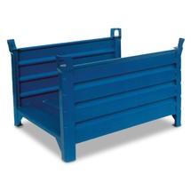 Stapelbak v.lange goed.,open aan 2zijd.,1200x800x600mm,blauw