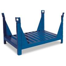 Stapelbak v.lange goed.,open aan 4zijd,1200x800x600mm,blauw