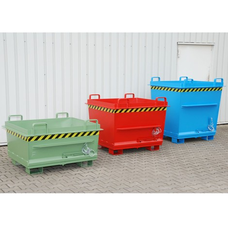 Stapelbarer Klappbodenbehälter, lackiert, Volumen 0,7 m³