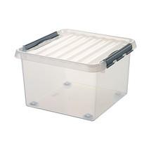 Stapelbehälter BASIC aus Polypropylen, mit Rollen