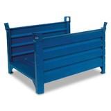 Stapelbehälter HESON® für Langgut, 2 Seiten offen, lackiert, BxT 1.200 x 800 mm