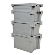 Stapelcontainer van polyethyleen. Wanden + bodem gesloten