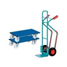 Stapelkarre Ameise® + VARIOfit® Transportroller Möbelhund®, 2er Set