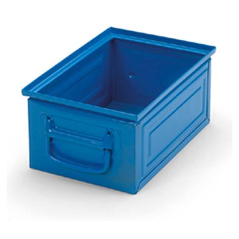 Stapelkasten aus Stahlblech. Maß 300 x 200 x 150 mm (LxBxH)