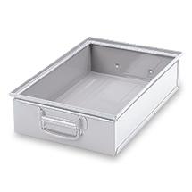 Stapelkasten aus Stahlblech. Maß 450 x 300 x 120 mm (LxBxH)