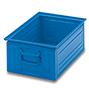 Stapelkasten aus Stahlblech. Maß 450 x 300 x 200 mm (LxBxH)