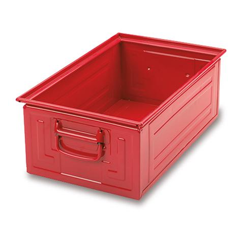 Stapelkasten aus Stahlblech. Maß 500 x 300 x 200 mm (LxBxH)