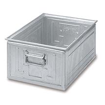Stapelkasten aus Stahlblech. Maß 600 x 400 x 300 mm (LxBxH)