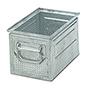 Stapelkasten aus Stahlblech mit 3 mm Ø-Lochung
