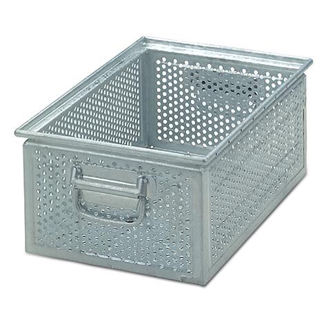 Stapelkasten aus Stahlblech mit 5 mm Ø-Lochung