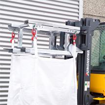 Stapler-Transportgerät für Transportsäcke Big Bag. Tragkraft 1500 kg