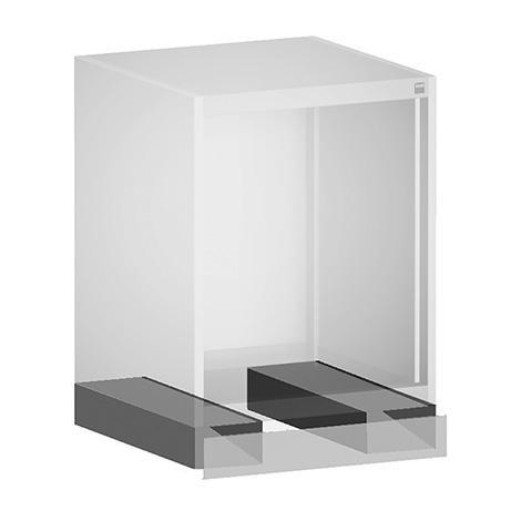 Staplersockel für Schubladenschränke bott cubio. Lichtgrau. Höhe 100 mm
