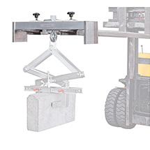 Staplertraverse aus Aluminium. Tragkraft bis 6300 kg