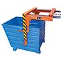 Staplertraverse für stapelbare Kippbehälter lackiert mit 0,55 m² Volumen