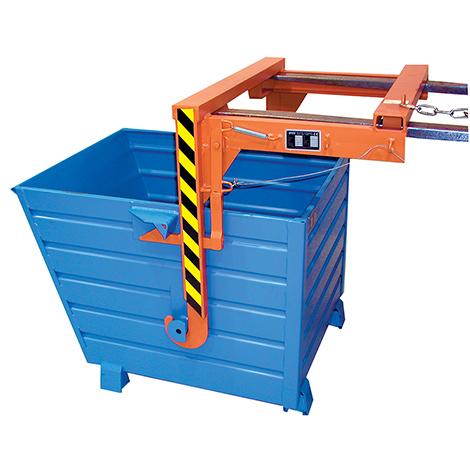 Staplertraverse für stapelbare Kippbehälter lackiert mit 1,5 m² Volumen