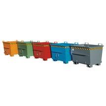 Staplingsbar container med bottentömning, lackerad, volym 1 m³