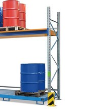 Stativ ram för lastpallställ med samling brickor
