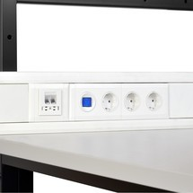 Steckdosen für Brüstungskanal für Packtisch Classic und Multiplex